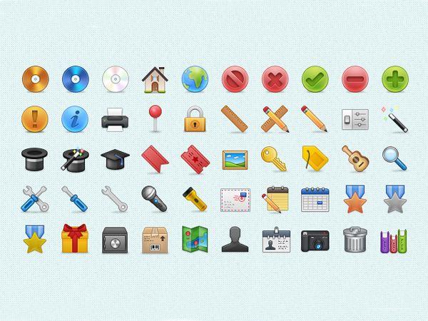 Ilustração dos ícones de Build Icons