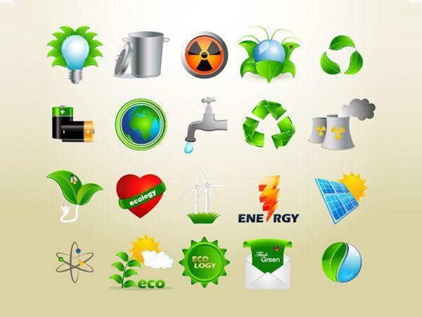 Ilustração dos ícones de Ecology Icon Set