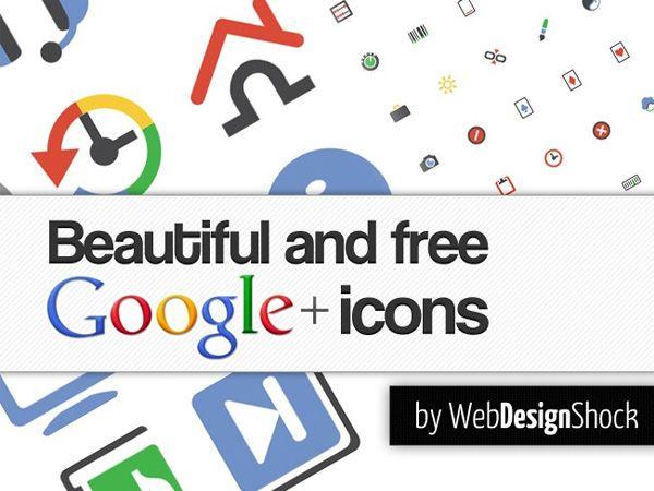 Ilustração dos ícones de Google Plus Interface Icons