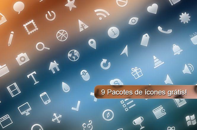 9 pacotes de ícones grátis