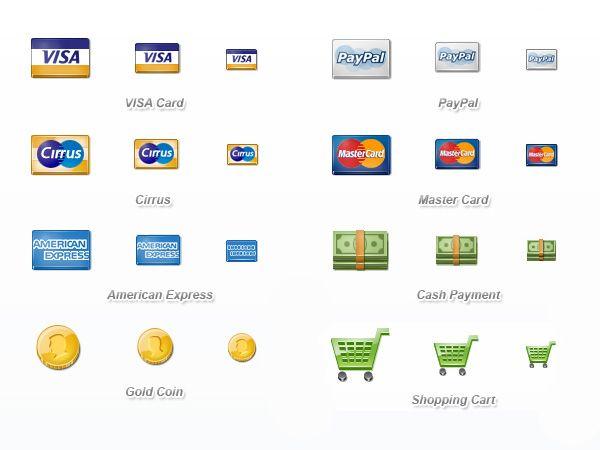 Ilustração dos ícones de Payment Icon Set