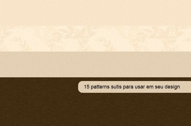 15 patterns sutis para usar em seu design